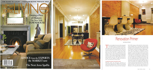 All Renovation Construction LLC - Press - NY Living Magazine